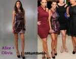 In Kourtney Kardashian's Closet - Alice + Olivia Marie Tulip Dress