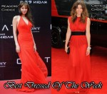 Best Dressed Of The Week - Angelina Jolie In Atelier Versace & Jessica Biel In Giambattista Valli