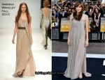 """Salt"" London Premiere - Angelina Jolie In Amanda Wakeley"