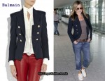 In Jennifer Aniston's Closet - Balmain Double Breasted Blazer