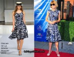 US Open Tennis Championships Opening Night Ceremony - Anna Wintour In Oscar de la Renta