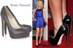 In Anna Paquin's Closet - Brian Atwood 'Harrison' Chain Leather Pumps