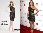 In Audrina Patridge's Closet - David Meister Foil Print One Shoulder Dress