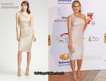 In Julie Benz' Closet - David Meister One Shoulder Dress