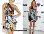 In Cat Deeley's Closet - Matthew Williamson One-Shoulder Printed Silk Dress