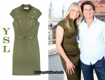 In Cameron Diaz' Closet - YSL Military Dress