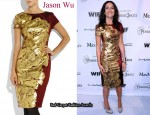 In Camilla Belle's Closet - Jason Wu Leaf-Print Sheath Dress