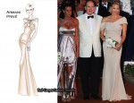 62nd Monaco Red Cross Ball – Charlene Wittstock In Armani Privé