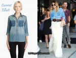 In Drew Barrymore's Closet - Current/Elliott Two-Tone Denim Shirt