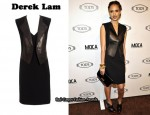 In Jessica Alba's Closet - Derek Lam Leather Panel Dress