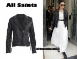In Drew Barrymore's Closet – All Saints Owain Leather Jacket