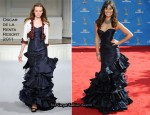 2010 Emmy Awards - Lea Michele In Oscar de la Renta