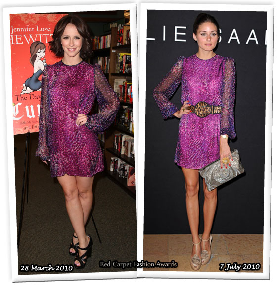 dd7df11f2d8 Who Wore Bensoni Better  Jennifer Love Hewitt or Olivia Palermo. We all  know how much Olivia Palermo loves ...