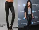 In Shenae Grimes' Closet - Helmut Lang Leather Pants