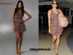 In Eva Mendes' Closet - Madwell Floral Tiered Dress