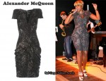 In Mary J Blige's Closet - Alexander McQueen Fox Print Dress