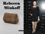 In Michelle Trachtenberg's Closet - Rebecca Minkoff Leopard Fling Clutch