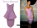 In Thandie Newton's Closet - Vivienne Westwood Strapless Taffeta Dress