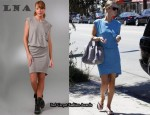 In Nicky Hilton's Closet - LNA Delta Pocket Dress, Alexander Wang Coco duffel and Alexander Wang Zipper Sunglasses