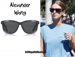 In Nicky Hilton's Closet - Alexander Wang Zipper Sunglasses