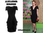 In Anna Paquin's Closet - Alexander McQueen Dress, Brittania Punk Skull Clutch & YSL Tribute Pumps