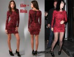 In Katy Perry's Closet - Alice + Olivia Tabitha Fitted Dress