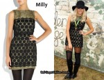 In Pixie Lott's Closet – Milly 'Vivi' Black Dress