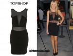 In Stephanie Pratt's Closet - Topshop Mesh Cut-Out Dress