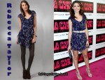 In Emmy Rossum's Closet - Rebecca Taylor Bow Dress