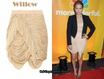 In Becki Newton's Closet - Willow Nude Drape Skirt