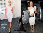 Runway To Maze Resturant – Eva Longoria In Victoria Beckham Collection