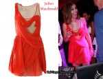 In Cheryl Cole's Closet - Julien MacDonald Twisted Pleat Silk Dress