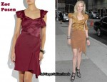 In Anne Heche's Closet - Zac Posen Folded Dress