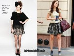 On The Gossip Girl Set With Leighton Meester In Alice + Olivia & 3.1 Phillip Lim