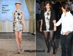 """The Romantics"" New York Promo Tour - Katie Holmes In Jason Wu & Lanvin"