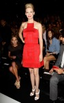 January Jones Front Row @ Versace Spring 2011