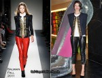 Launch Of The Shoe Galleries At Selfridges - Gemma Arterton In Balmain & Isabel Marant