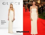 """Tamara Drewe"" London Premiere - Gemma Arterton In Gucci"