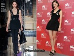 "2010 Venice Film Festival ""Norwegian Wood"" Photocall - Kiko Mizuhara In Miu Miu"