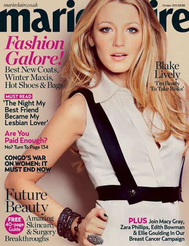 Blake Lively For Marie Claire UK October 2010
