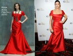 """Welcome To Wales"" – Catherine Zeta Jones In Reem Acra"