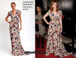 """Devil"" LA Premiere - Christina Hendricks In Carolina Herrera"