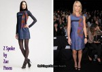 In Claire Danes' Closet - Z Spoke by Zac Posen Denim Sheath Dress