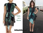 In Julia Restoin-Roitfeld's Closet - Emilio de la Morena Silk-Blend Appliqué Dress