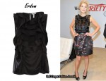In Rosamund Pike's Closet – Erdem Ruffle Bib Sleevless Top