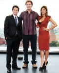 """The Other Guys"" Promotional Tour - Eva Mendes In Zac Posen, Prada & RM by Roland Mouret"