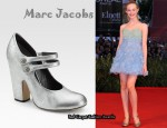 In Elle Fanning's Closet - Marc Jacobs Metallic Mary Jane Pumps