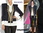 In Gemma Arterton's Closet - Balmain Tweed Military Jacket