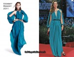 "2010 Venice Film Festival ""The Town"" Premiere & Photcall - Rebecca Hall In Vionnet & Prada"