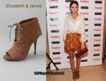 In Olivia Palermo's Closet - Elizabeth & James Lizzy Suede Cuff Booties